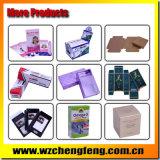 Blaue gedruckte PapierEinkaufstasche