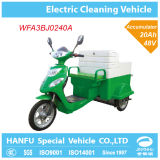 Автомобиль трицикла уполовника электрической чистки Тележк-Электрический
