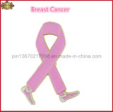 Pin de la cinta del cuidado del cáncer, Pin de collar suave del color del esmalte del Pin de metal (JINJU16-007)