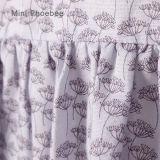 100% coton robe printemps / automne fleur fille