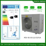 o aquecimento da casa do assoalho 12kw/19kw/35kw/70kw/105kw/radiador no inverno de -25c Auto-Degela o inversor Evi de Monoblock da bomba de calor da fonte de ar