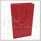 SGSはテストする、黒及び赤い紙袋のショッピング・バッグ(KG-PB041)