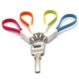 Cavo di vendita caldo del USB del braccialetto di Keychain per il iPhone 5/Samsung