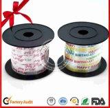 Rodillo sólido de la cinta del papel rojo del Faux para envolver