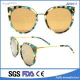 El italiano retro redondo de las gafas de sol del metal UV400 del OEM califica los vidrios
