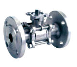 Steel inoxidável 3PC Flanged Ball Valve