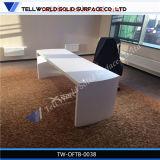 Bureau italien à haute brillance blanc de management de fantaisie de luxe d'ordinateur de bureau d'ordinateur portatif de banc de travail du type 2016 moderne avec des tiroirs