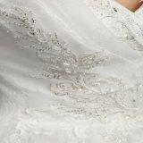Vestido de casamento de perolização Sleeveless do querido (SL-038)