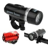 Fahrrad Light Set Super Bright 5 LED Headlight Flashlight und Taillight Bike Front Rear Tail Light