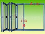 Puerta de cristal plegable de aluminio