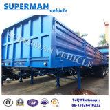 40FT販売のための3つの車軸側面または半ドアの貨物トラックのトレーラー