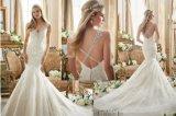 Reizvolles Braut-Hochzeits-Kleid der Nixe-2017, angepasst