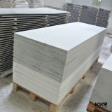 Поверхность искусственного каменного белого строительного материала камня смолаы акриловая твердая