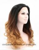 오래 형식 기온변화도 머리 정면 레이스 머리 꼬부라진 합성 가발