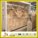 Natural Polished Yellow Onyx Slab pour Background Wall