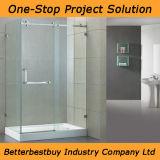 Pièce de douche de porte de tissu pour rideaux avec la base acrylique
