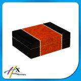 Vierecks-Weinlese-stellte Luxuxzigarrenschachtel-festes Zeder-Holz Luftfeuchtigkeitsregler-Zigarre-Ablagekasten her