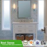 純木の標準的な浴室用キャビネット
