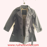 Beiläufiges Khaki Woven Trench Coat/Overcoat/Jacket für Women