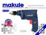 Broca elétrica de Makute 260W 6.5mm com embalagem ED001 da caixa de cor
