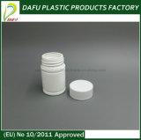 runde Form 50ml PET weiße Plastikflasche