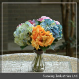 Wedding Decoration를 위한 Orrange Giant Artificial Silk Flowers