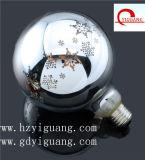 G125 E26 3.5-4W装飾的な銀製の壊されたランプの雪片パターン