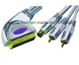 Erstklassiges 21pin Scart 2RCA Scart zum Kabel