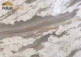 銀製の道の白い大理石のブラウンの大理石