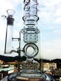 23 Inche K42 Roor 3 Bienenwabe-und Birdcage-Filtrierapparat-Glasrohr, rauchendes Wasser-Rohr