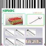 Shopfitting Chrom Pegboard Slatwall Bildschirmanzeige-Haken