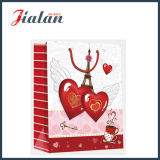 Saint-Valentin Art Paper Red Heart Shopping Sac à papier cadeau