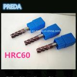 Tamaño estándar de los molinos de extremo del carburo HRC60