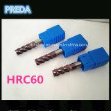 Нормальный размер торцевых фрез карбида HRC60