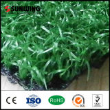 Alfombra artificial sintetizada verde barata de la hierba que pone para el lugar del ocio