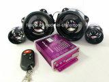 Sistema de alarma de la motocicleta de audio MP3 con Twin-altavoz