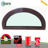 熱絶縁体UPVCのプラスチック固定アーチ形にされたガラス窓のグリルデザイン