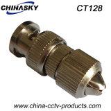 Type rapide mâle de télévision en circuit fermé connecteur BNC pour le câble coaxial de liaison (CT128)