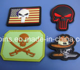 Clothing를 위한 고무 3D Embossed Soft PVC Military Velcro Patches Label