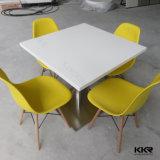 2개의 시트 현대 가구 대리석 돌 패턴 식당 테이블