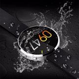 Aço inoxidável do relógio esperto impermeável da frequência cardíaca Dm360 de pressão sanguínea