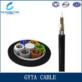 Aperçus gratuits GYTA/S de jupe de PE de câble de fibre de G652D