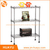 500*300*700 mm 3層Adjustable Wire Shelving Metal Display Stand Storage Rack