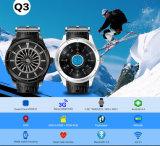 Dimensión de una variable redonda pura 3G Smartwatch con la supervisión y el podómetro del ritmo cardíaco