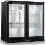 3 стеклянных холодильника штанги задней части двери