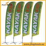 bandeira do vôo da impressão de Digitas da fibra de vidro da promoção do evento de 2.8m/bandeira da pena