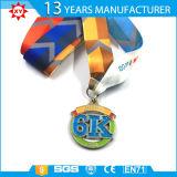 개인화된 Sublimited 방아끈 3D 은메달