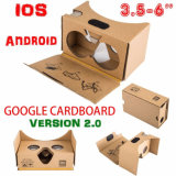 Phone Google Cardboard Version 2를 위한 Vr Virtual Reality 3D Glasses