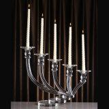 Suporte de vela de cristal Highend para o casamento decorativo