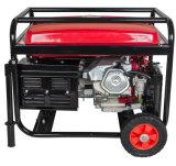 6000W는 손잡이와 바퀴를 가진 유형 Genset 구리 철사 220V 가솔린 발전기 15HP를 연다